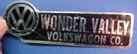 Wonder Valley Volkswagon / Volkswagen Co sticker