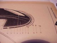 1967 Ghia Convertible Chrome Trim Snaps Parts Book Diagram