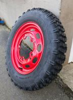 "TIRES for the red set of China-repro 16"" Pre-A wheels..."