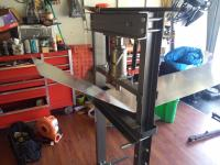 Bending aluminum side panels
