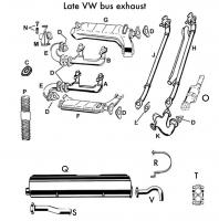 late FI bus exhaust components