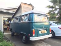 Mikey's '73 Westy new tent after install.  Rear shot