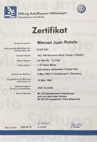My Ghia birth certificate & M code