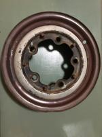 Rusty brown/ pearl white original paint beetle wheel
