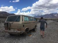 Death Valley - 2 destroyed tires