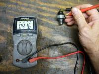 Oil pressure switch check