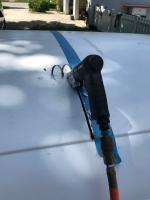 Pop top install frame weld and lift mechanism install