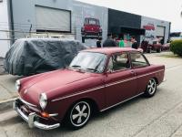 2019 ISP West Open House 1966 Canadian A Model Notchback Type 3 Granada Red Earlies Fuchs Deep Six Slammed Narrowed BerT3 Oldspeed Radio Clock Delete
