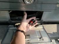 Solar cable through license plate door