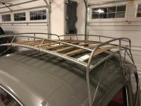 Wood slat roof rack