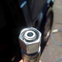 incorrect high pressure power steering end fitting