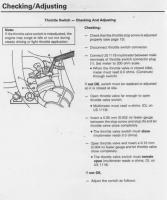 Throttle switch adjustment