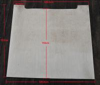 Westy interior rear ceiling birch panel - Update: This photo has the correct measurements
