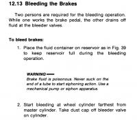 Disc brake Dual Circuit MC bleeding order
