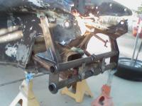 """Reshaping of inner fender panels to clear Warrior beam 8"""" towers"""