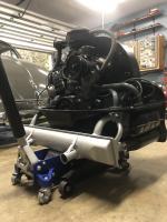 Home made engine cart