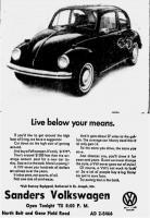 Sanders Motors Volkswagen St. Joseph Missouri MO Business Card Sales Literature