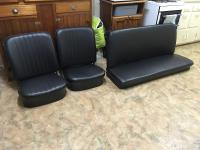 Notchback seats - Black