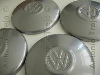 VW Sedan hub caps in semi gloss gray color for stock 4 lug nut steel wheel