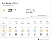 Bad Camberg Weather June 2019