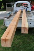 single cab hauling deck posts