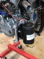 Vanagon Syncro Transmission Oil Pump Mounted On Subaru EJ22 Cylinder Head Prototype