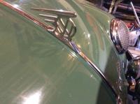VW front hood mascot