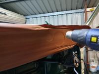 RHD woodgrain vinyl dash