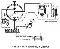 VDO oil sender wiring