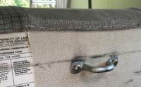 Disable rear seat storage latch
