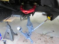 Front suspension install