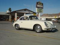1965 Porsche at the motel