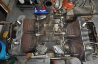 Accessory stripped EA 412 engine