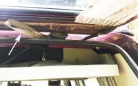 Rear hatch hinge loops