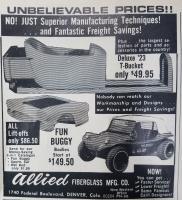 Allied Fiberglass Fun Buggy Advertisement