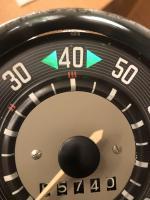 '63 Speedo turn signal indicator housing