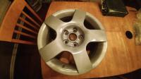 Reconditioned Audi Wheels on an EV