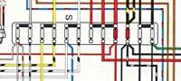 1972 Beetle fuse box close up