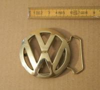 VW brass belt buckle