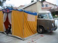 MY '78 WESTY IN ALL IT'S GLORY DRY RUN WITH NEW TENT:-)