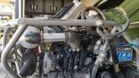 Exhaust support and radiator plumbing on Ecotec 2.2