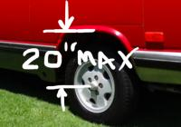 "Vanagon CVs max lift 20"" axle to fender"