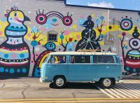 vw bus mural