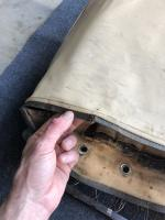 Original thin back upholstery
