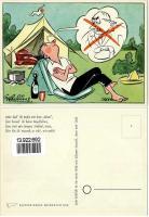 Early Klepper Tent Joke Post Card
