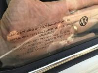 California Emissions sticker on 1972 Bug