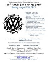 Syracuse area Salt City VW show Aug 11 2019