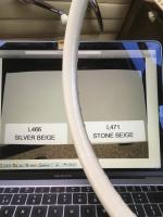 Stone beige-Silver beige comparison
