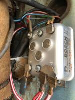 Bad blue 61 wire at voltage regulator