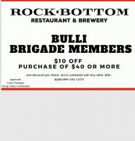 Bulli Brigade attendee coupon for 11/15/19